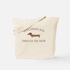 Dachshund Through The Snow Tote Bag