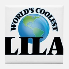 World's Coolest Lila Tile Coaster