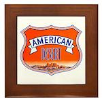 American Desert Framed Tile