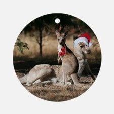 Kangaroo Christmas in Australia Ornament (Round)