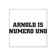 """Funny Arnold schwarzenegger Square Sticker 3"""" x 3"""""""