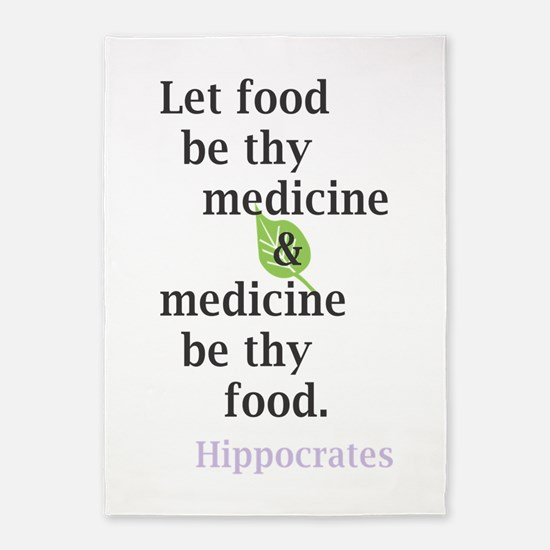 Let food be thy medicine 5'x7'Area Rug