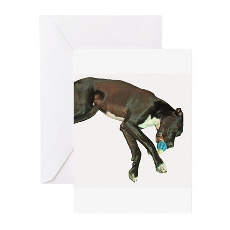 Great Dane Pacifier Greeting Cards (Pk of 10)