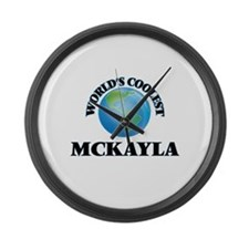 World's Coolest Mckayla Large Wall Clock