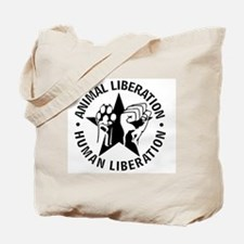Animal Liberation Human Liberation Vegan Tote Bag