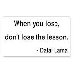 Dalai Lama 12 Rectangle Sticker