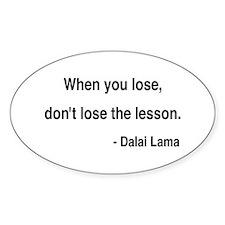 Dalai Lama 12 Oval Decal