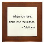 Dalai Lama 12 Framed Tile