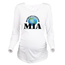 World's Coolest Mia Long Sleeve Maternity T-Shirt