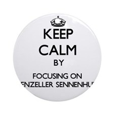 Keep calm by focusing on Appenzel Ornament (Round)