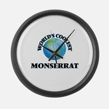 World's Coolest Monserrat Large Wall Clock