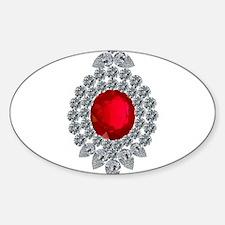 ruby brooch Decal