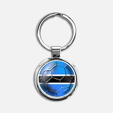 Botswana Football Keychains