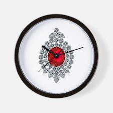 ruby brooch Wall Clock