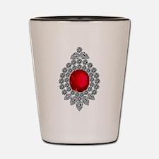 ruby brooch Shot Glass