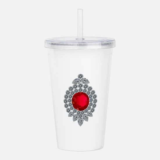 ruby brooch Acrylic Double-wall Tumbler