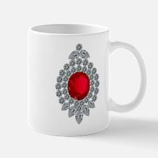 ruby brooch Mugs