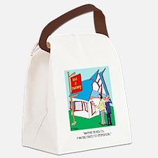 Building Cartoon 9233 Canvas Lunch Bag