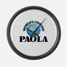 World's Coolest Paola Large Wall Clock