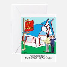 Building Cartoon 9233 Greeting Cards (Pk of 20)