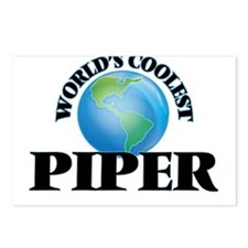 World's Coolest Piper Postcards (Package of 8)