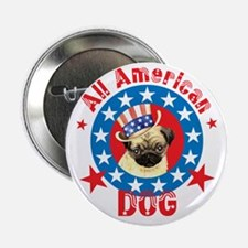 Patriotic Pug Button