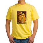 Kiss / Dachshund Yellow T-Shirt