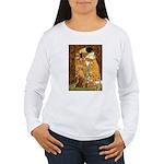 Kiss / Dachshund Women's Long Sleeve T-Shirt