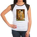 Kiss / Dachshund Women's Cap Sleeve T-Shirt