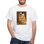 Kiss / Dachshund White T-Shirt