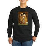 Kiss / Dachshund Long Sleeve Dark T-Shirt