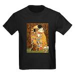 Kiss / Dachshund Kids Dark T-Shirt