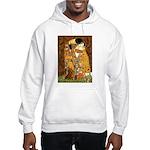 Kiss / Dachshund Hooded Sweatshirt