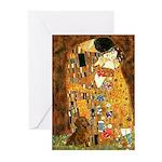 Kiss / Dachshund Greeting Cards (Pk of 10)