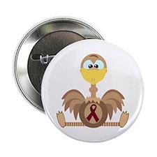 Burgundy Awareness Ribbon Ostrich Button