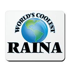 World's Coolest Raina Mousepad