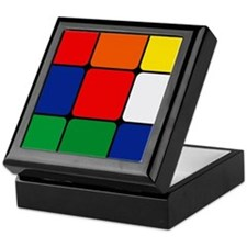Color Blocks Cube Keepsake Box