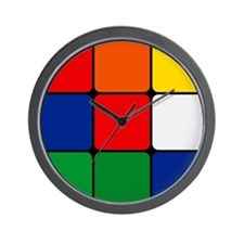 Color Blocks Cube Wall Clock