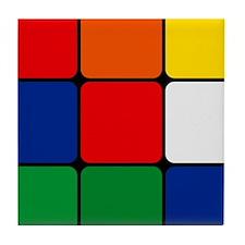 Color Blocks Cube Tile Coaster