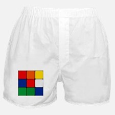 Color Blocks Cube Boxer Shorts