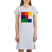 Color Blocks Cube Women's Nightshirt