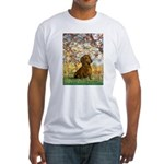 Spring / Dachshund Fitted T-Shirt