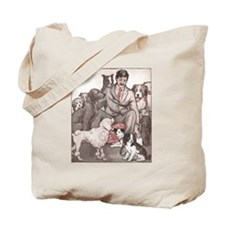 Dogs and Their Man Tote Bag