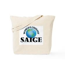 World's Coolest Saige Tote Bag