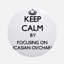 Keep calm by focusing on Caucasia Ornament (Round)