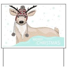 Christmas Deer Yard Sign