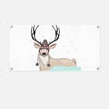 Christmas Deer Banner