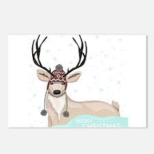 Christmas Deer Postcards (Package of 8)