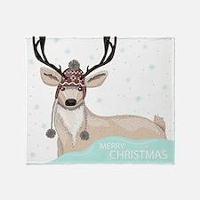 Christmas Deer Throw Blanket