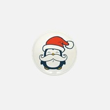 Christmas Penguin Mustache Mini Button (100 pack)